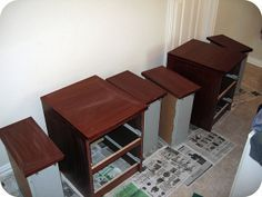 how to repaint Ikea/Target/Walmart furniture! so helpful!