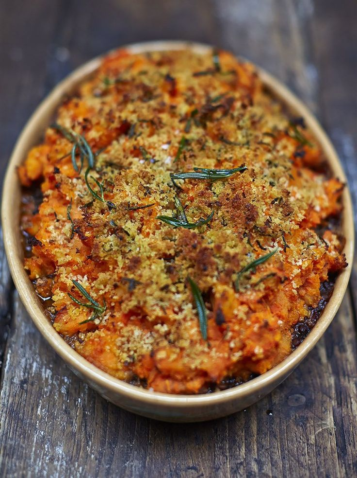 Vegan shepherd's pie | Jamie Oliver *didn't exactly follow the recipe (omitted…