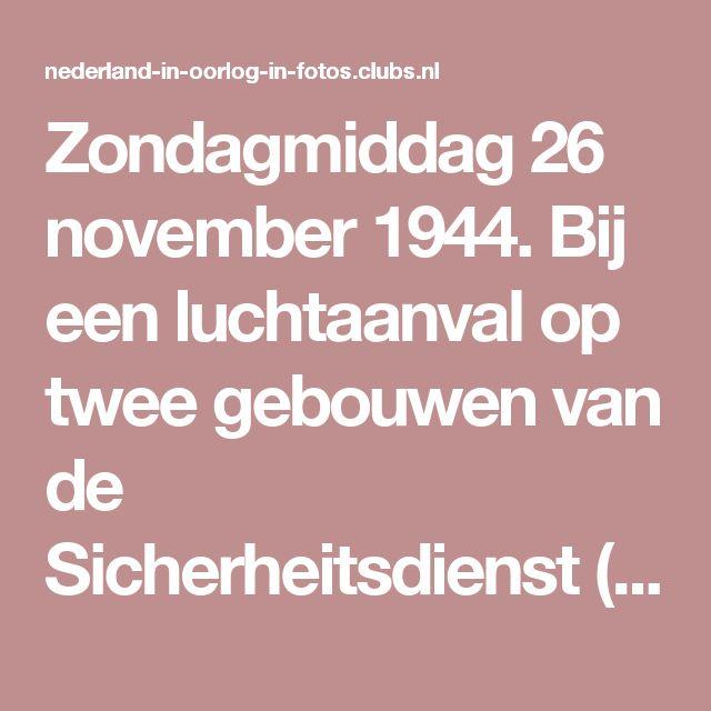 Zondagmiddag 26 november 1944. Bij een luchtaanval op twee gebouwen van de Sicherheitsdienst (SD) en Sicherheitspolizei (SiPo), uitgevoerd door de Royal Air Force, zijn ook nog dertig woonhuizen getroffen. Het Amsterdamse verzet heeft de aanval in Londen aangevraagd. Vanuit de voormalige meisjes-H.B.S. en in de tegenoverliggende Christelijke H.B.S. in de toen bestaande Euterpestraat, gaven de SD en SiPo leiding aan de deportatie van Joden uit Nederland. De Duitse politie was berucht om zijn…