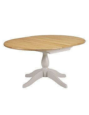 Putty Padstow Extending Round Dining Table Furniture