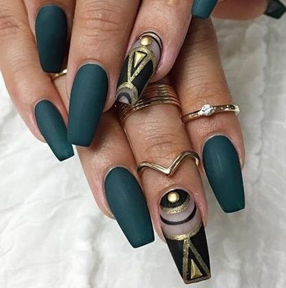 25 beautiful egyptian nails ideas on pinterest matte green coffin nails kortenstein prinsesfo Choice Image
