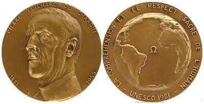 ALMINA: p.  Pierre Theilhard de Chardin - Unesco medail