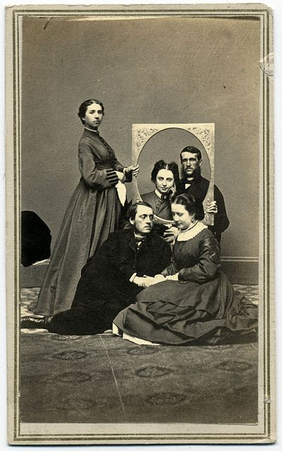Intriguing group of friends. 1864, New York I see the Living History Society of Minnesota recreating this image.