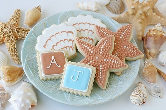 Beach!Cookies Decor, Theme Parties, Beach Theme, Desserts Bar, Beach Weddings, Beach Cookies, Beach Wedding Favors, Beach Inspiration, Wedding Cookies