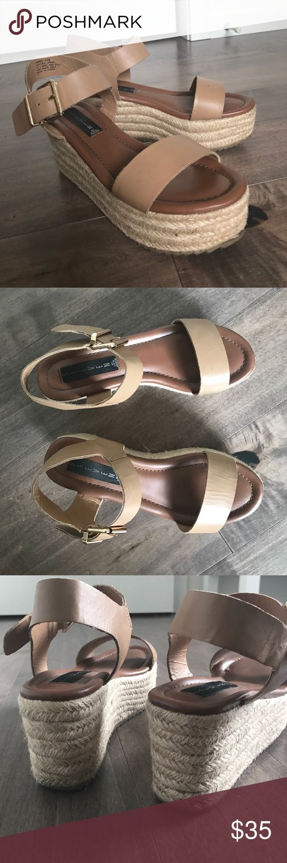 Steve Madden Sabbie platform heels Great platform shoes cute with spring dresses! Minimal signs of wear. Super comfortable and don't make your feet hurt like higher wedges! Steve Madden Shoes Platforms