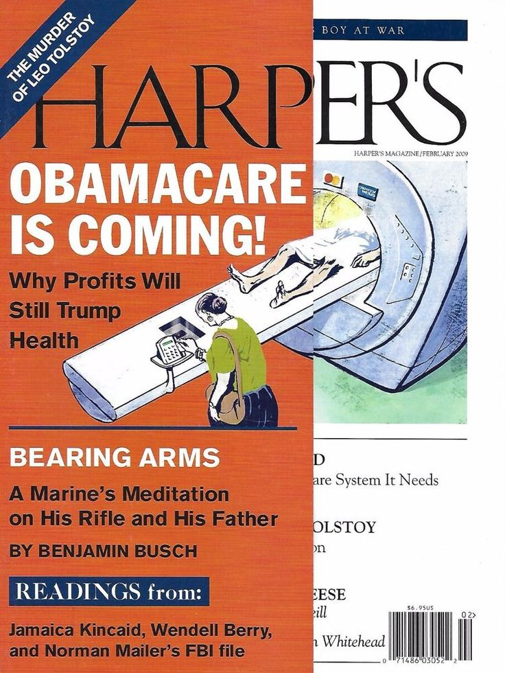 Harpers magazine Obamacare Leo Tolstoy murder Bearing arms The world of cheese