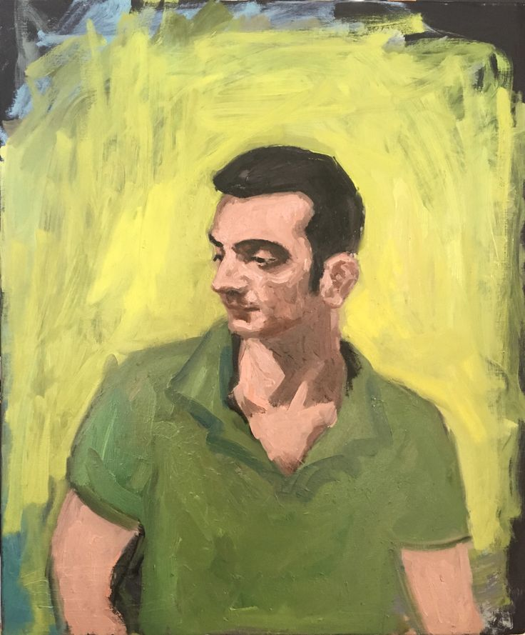 Portrait of Dino, oil on canvas-mai thi tran