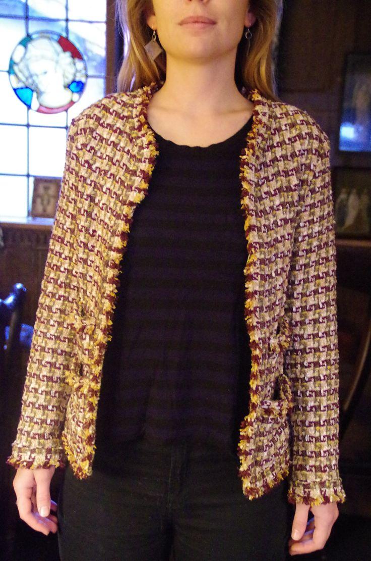 2015. Vogue 7975. Linton tweed with silk lining.