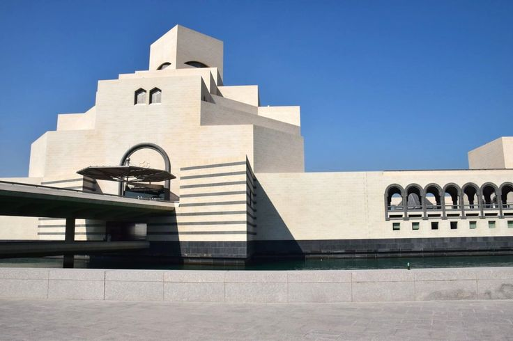 The exterior of the Museum of Islamic Art, a work of intricacy and design itself.