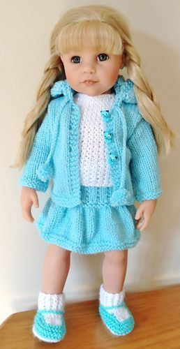 Ravelry: Jacknitss' Hoodie for 18 inch American Girl and Gotz Dolls
