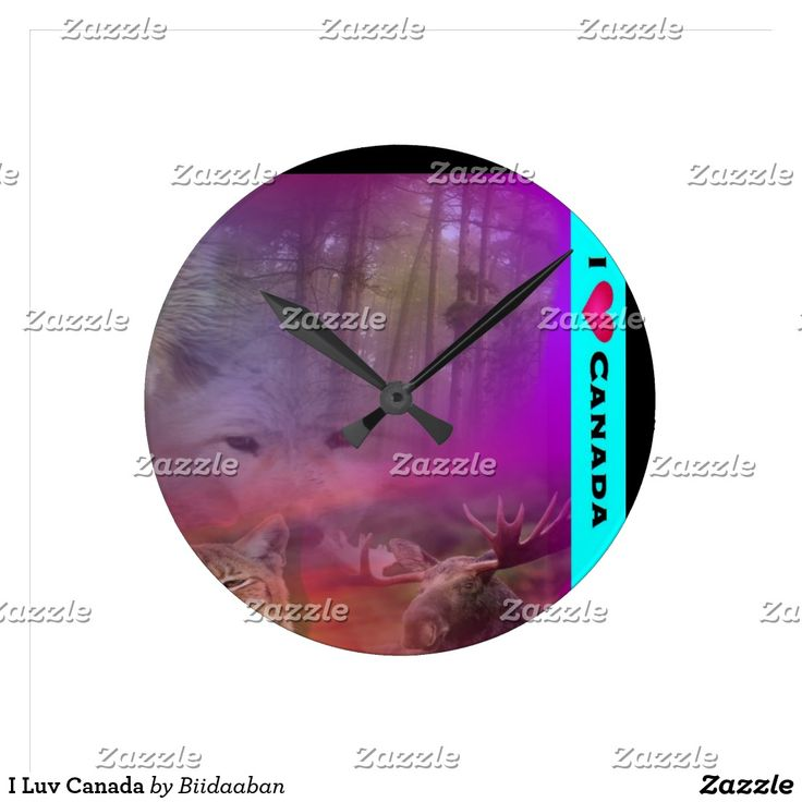 I Luv Canada Round Clock