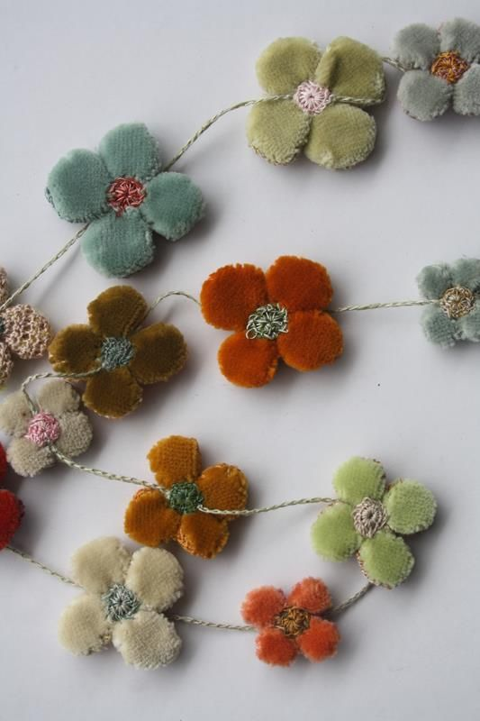 detail of the Sophie Digard flower necklace inspiration for christmas textile jewellery makes for friends and family