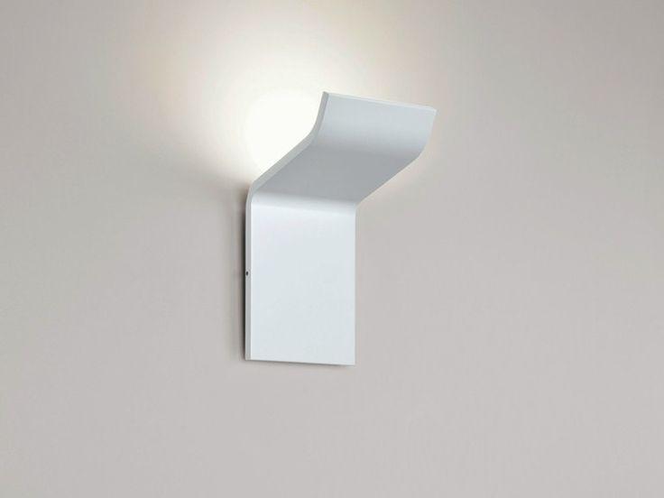 LED aluminium wall light SILHOUETTE W0 Silhouette Collection by Rotaliana   design Maurizio Quargnale, Serfio