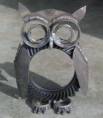 metal art yard projects | Miller - Welding Projects - Idea Gallery - Dana 60 Owl