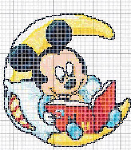 Mickey Mouse x-stitch