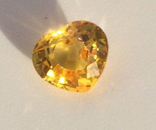 Loose Sapphire stone, intense yellow loose sapphire gemstone for Custom made fine jewelry, Loose Heart shape stone, loose sapphire gem by BridalRings on Etsy https://www.etsy.com/listing/273584012/loose-sapphire-stone-intense-yellow