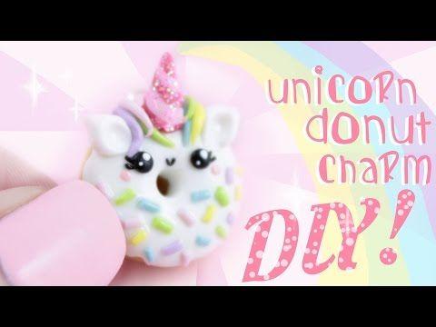 DIY Unicorn Donut Polymer Clay Charm Tutorial | Kawaii Friday