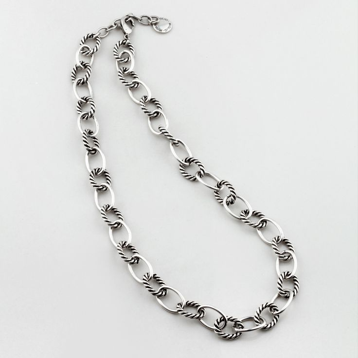 Miglio Designer Jewellery - Nautical Burnished Silver Plated Necklace