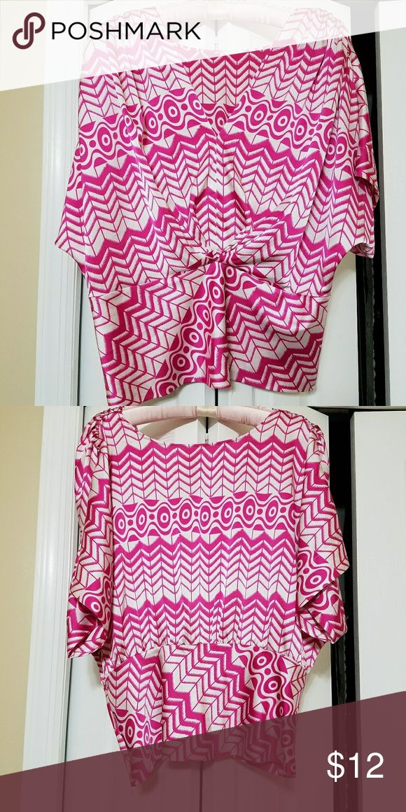 Pink & White Ladies Blouse Side zipper, tag removed don't recall brand name, machine wash, always received compliments on this pretty blouse. Mismash Tops Blouses