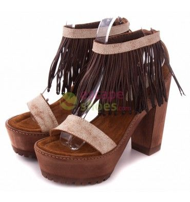Sandals XUZ Brown Fringes Pocahontas 40214-CS - EscapeShoes http://www.escapeshoes.com/1_xuz
