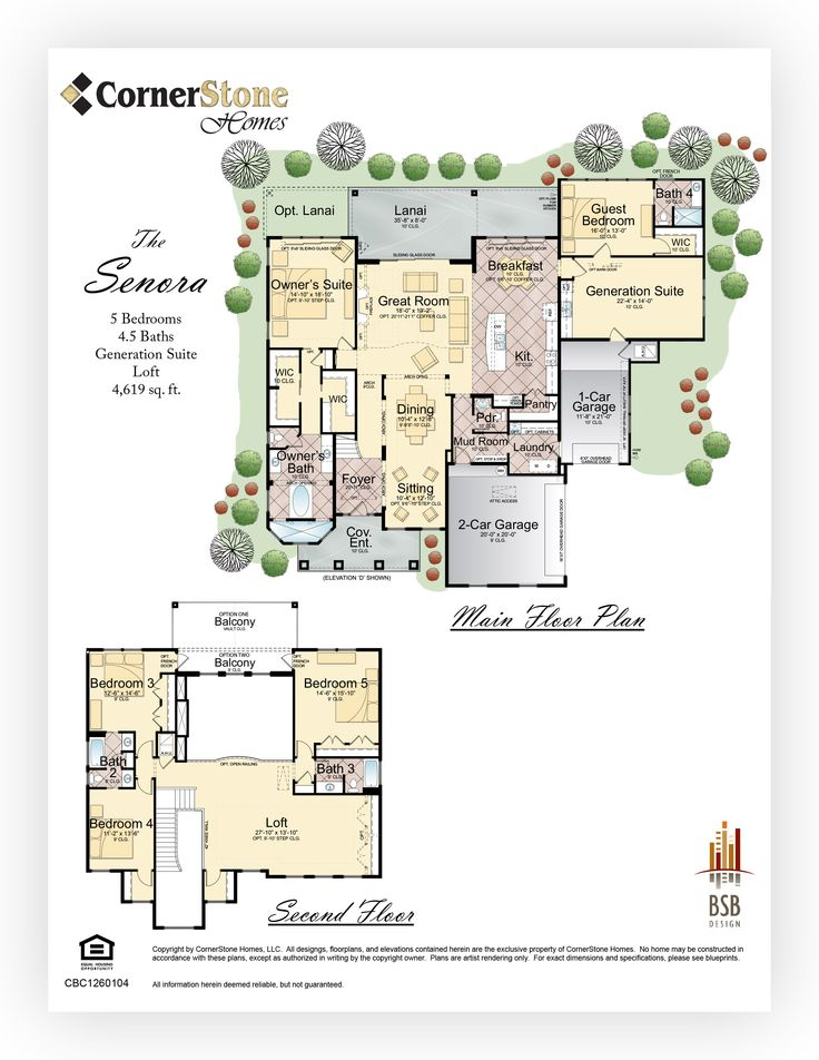 Cornerstone homes floor plan senora cornerstone homes for Cornerstone house plans