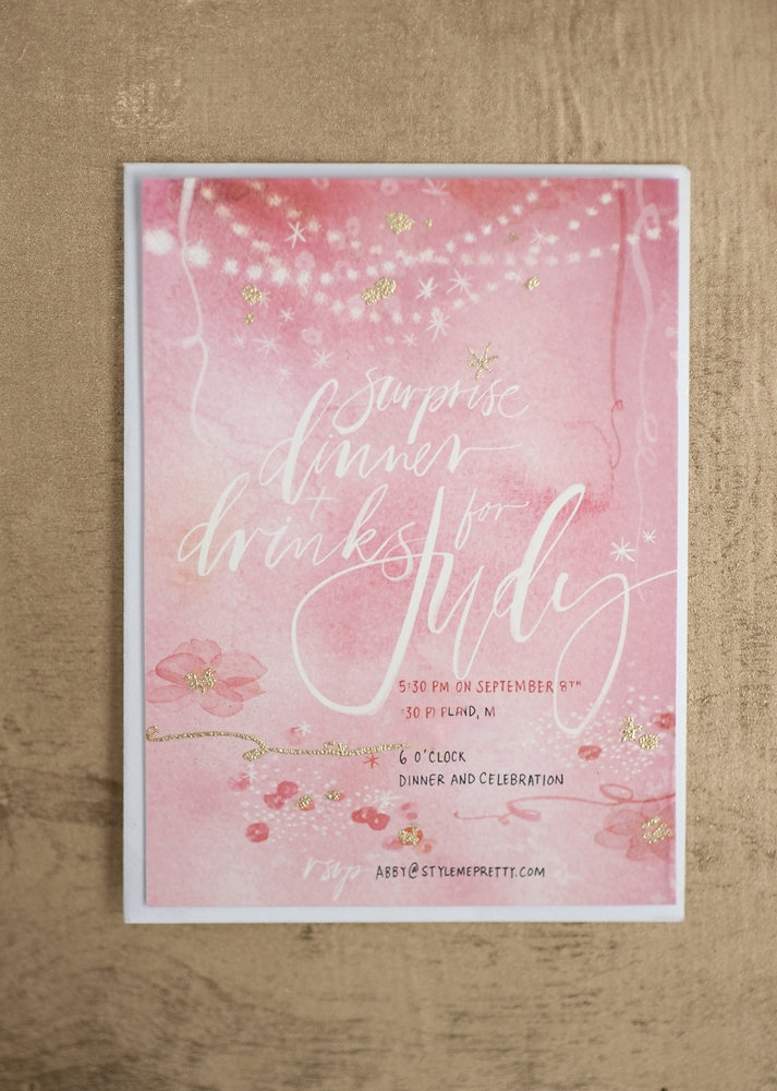 addressing wedding invitations married woman doctor%0A A Surprise Party  Part IV  Watercolour InvitesWedding