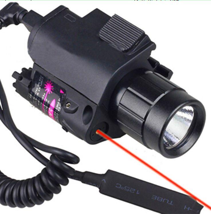 2in1は戦術クリーled懐中電灯/ライト+レッドレーザー/視力コンボ散弾銃用のグロック17 19 22 20 23 31 37
