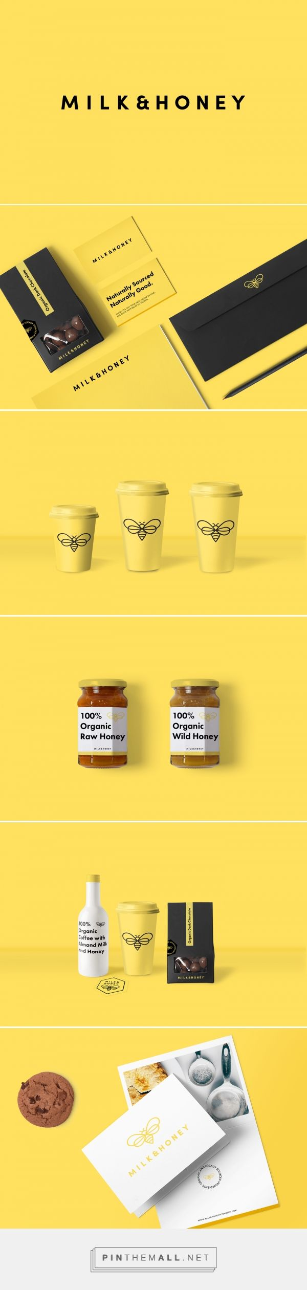 Milk & Honey Organic Bakery Branding and Packaging by Emmy de Leon Jones | Fivestar Branding Agency – Design and Branding Agency & Curated Inspiration Gallery