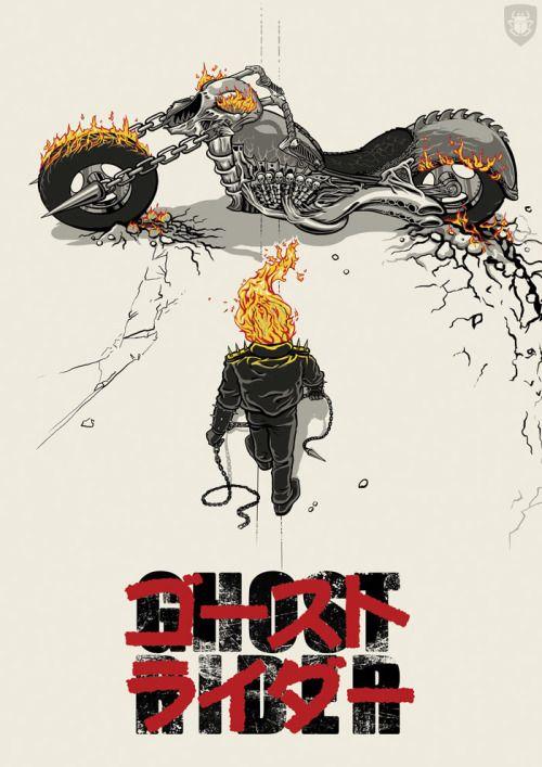 Ghost Rider Akira homage                                                                                                                                                                                 More