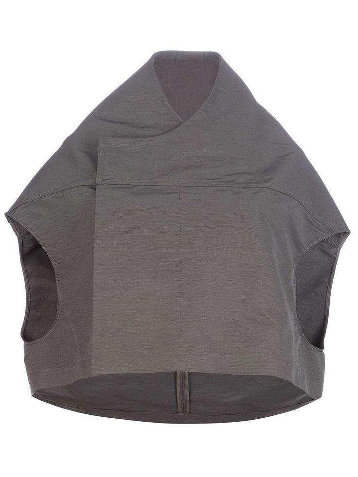 Rick Owens sleeveless cape jacket