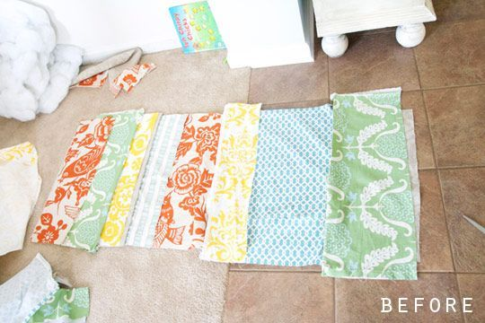 Before & After:  From Scraps To Super Simple Pillow     Me Sew Crazy –