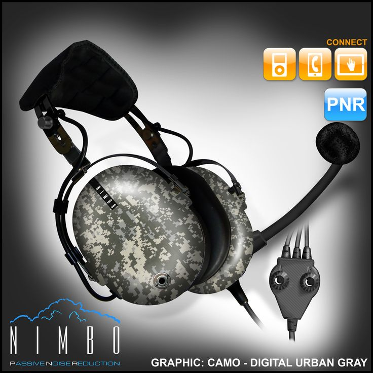 Nimbo PNR Aviation Headset - Digital Urban Gray Camo