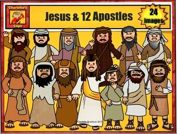 12 apostles and jesus bible story series by charlottes clips