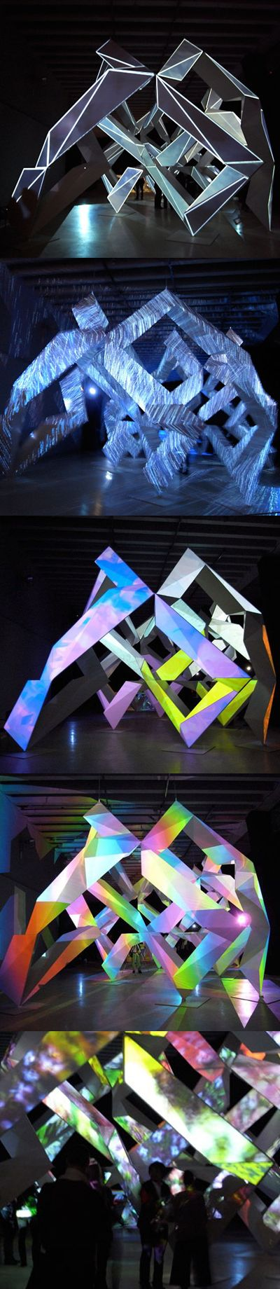 Japanese artist Kyota Takahashi and architect Akihisa Hirata collaborated on Prism Liquid, Canon's Neoreal installation