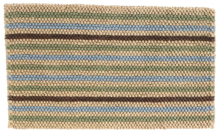 Colours Ambarella Brown Stripe Woven Jute Door Mat (L)750mm (W)450mm | Departments | DIY at B&Q