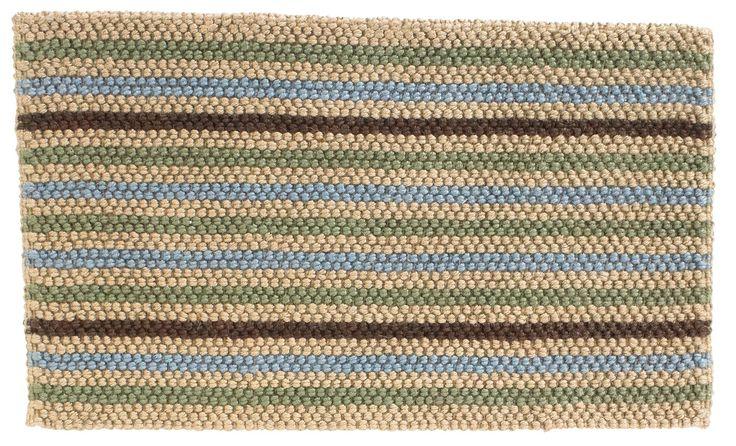 Colours Ambarella Brown Stripe Woven Jute Door Mat (L)750mm (W)450mm | Departments | DIY at B&Q