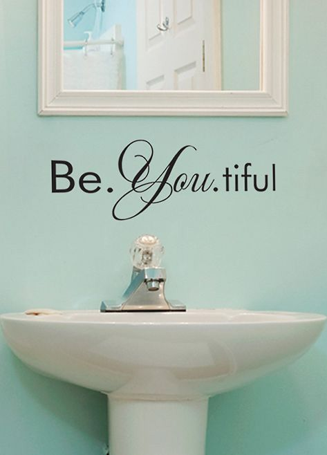 27 Best Bathroom Decor Images On Pinterest | Wall Decals, Bathroom Wall  Decals And Room