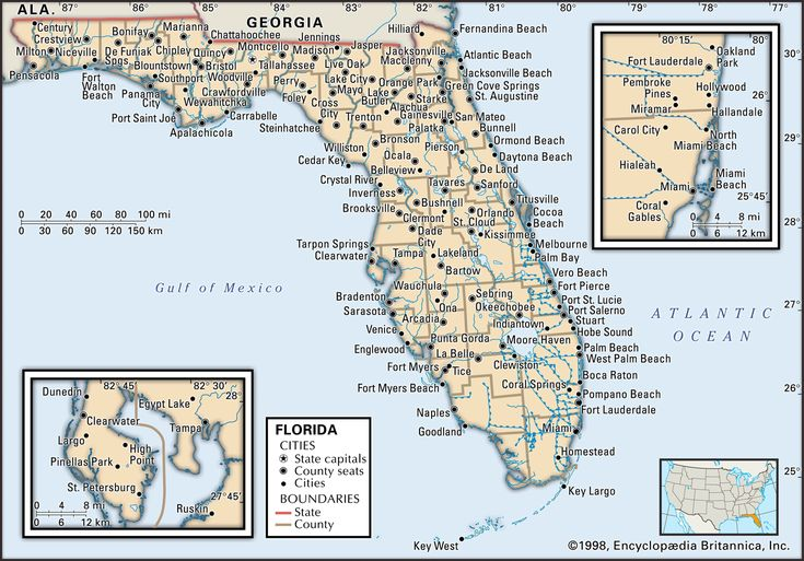 What are cities in florida / Big 5 reseda Cities Of Florida Map on