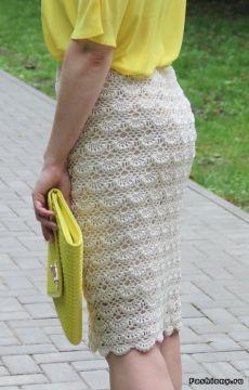 Ажурная юбка крючком по мотивам Ванессы Монторо