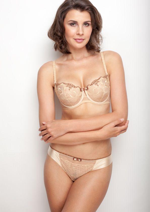 Samanta lingerie - New collection Beige Passy bra: A142 pants: M300 www.samanta.eu