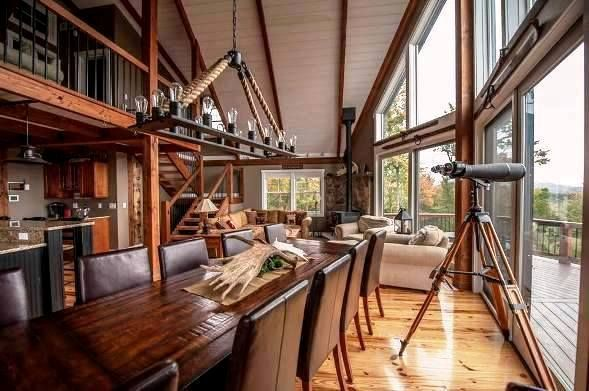 A Smaller Post And Beam Mountain Lodge Lives Large | Restoration Hardware,  Barn And Restoration
