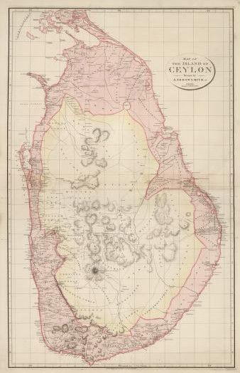 Old map of Ceylon
