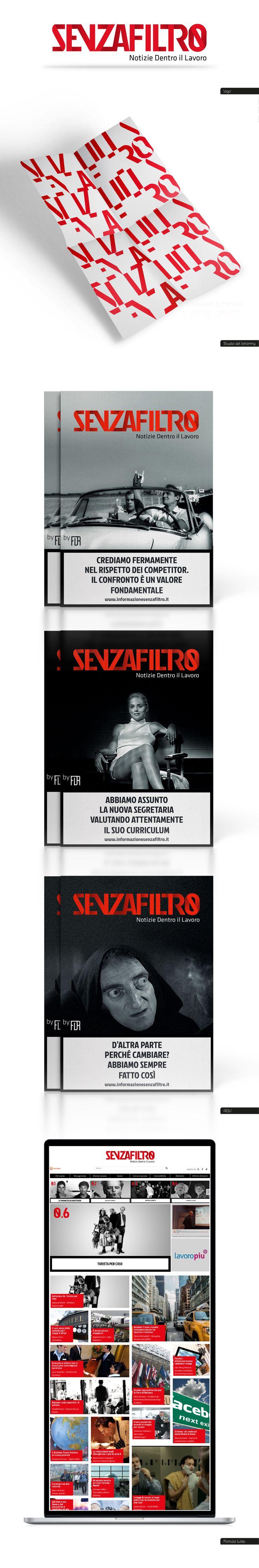 Brand identity SENZAFILTRO  by Questagenzianonhanome