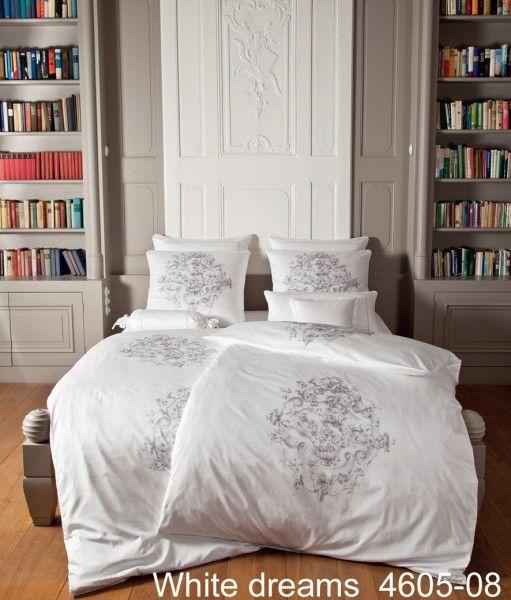 Janine Schweizer Satin-Bettwäsche White Dreams 4605 – edler Look für das Schlafzimmer