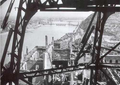 View of Budapest, 1945