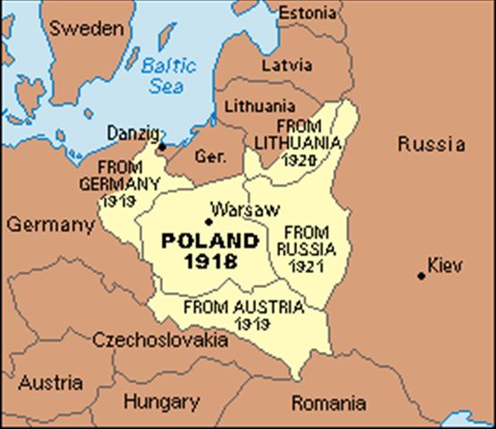 1918 Creation Of Poland Russian Revolution Maps Charts Etc