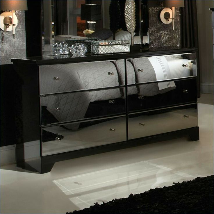 Parisian 6 Drawer Mirror Dresser In Black By Standard Furniture See More At Http