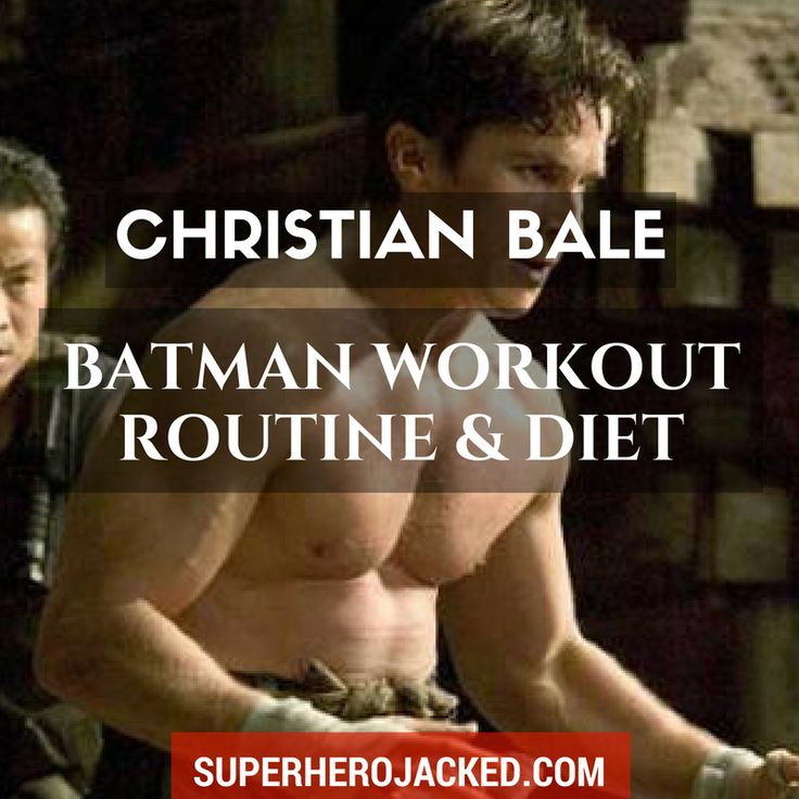 BONUS: Download the FREE Christian Bale Batman Workout PDF We've seen A LOT of different body types from Christian Bale - and we know he has a talent for getting into awesome shape for his given roles...! BUT, his Batman physique is really freakin' impressive. One thing I want to point out is the f…