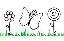 Jogos de pintar online para crianças: Borboleta