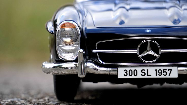 #300 sl #automobile #automotive #chrome #classic #emblem #headlight #hood #luxury #mercedes benz #miniature #toy car #vehicle